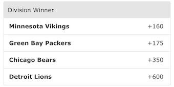NFC North Odds