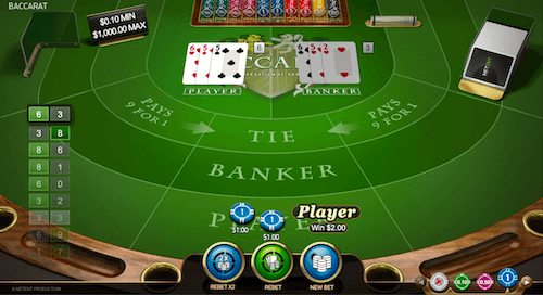 Baccarat Win Example