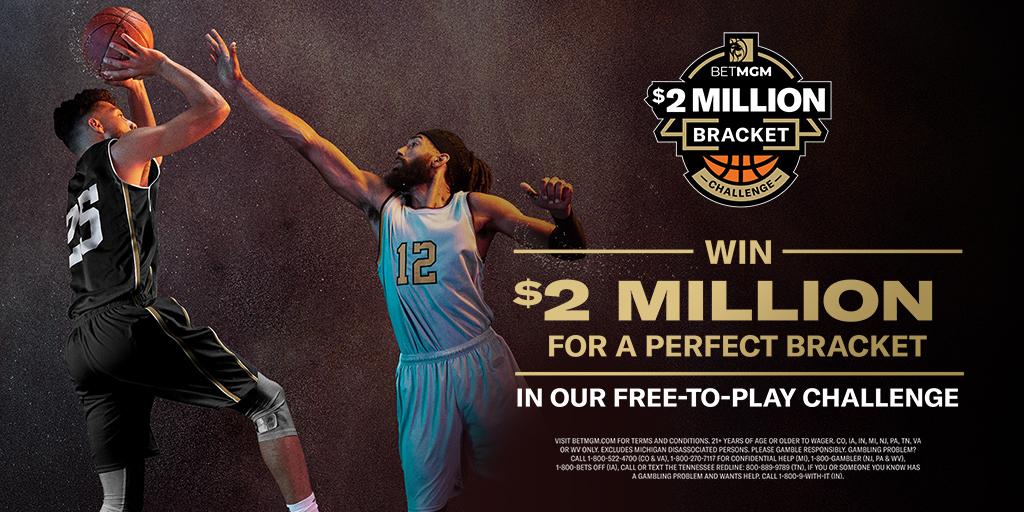 Win $2 Million For A Perfect BetMGM NCAA Tournament Bracket!