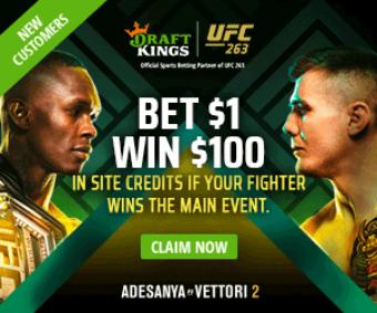 Bet On UFC 263: Adesanya Vettori 2 at DraftKings Sportsbook!