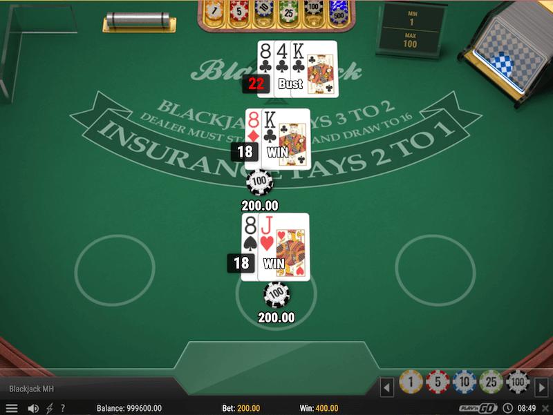 Blackjack at Dunder Casino