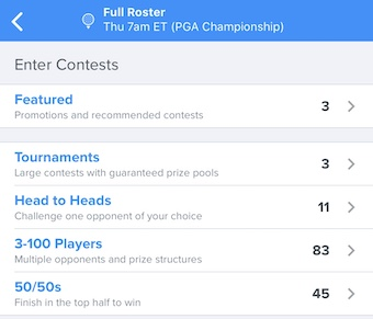 DraftKings DFS Games