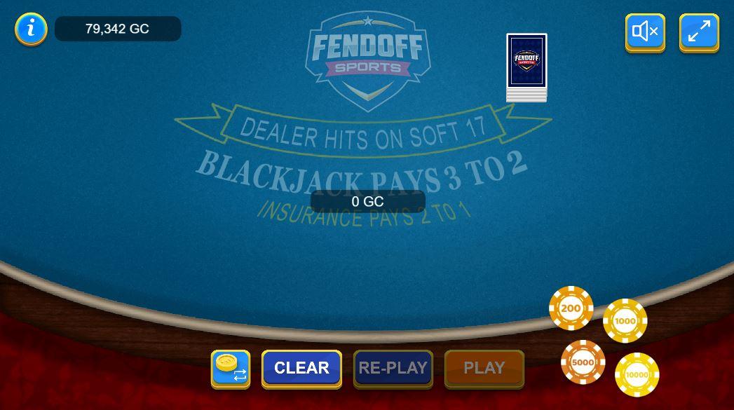 Blackjack at FendOff