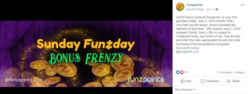 Sunday Funzday Bonus Frenzy