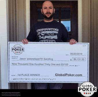 Global Poker Real Cash Winner