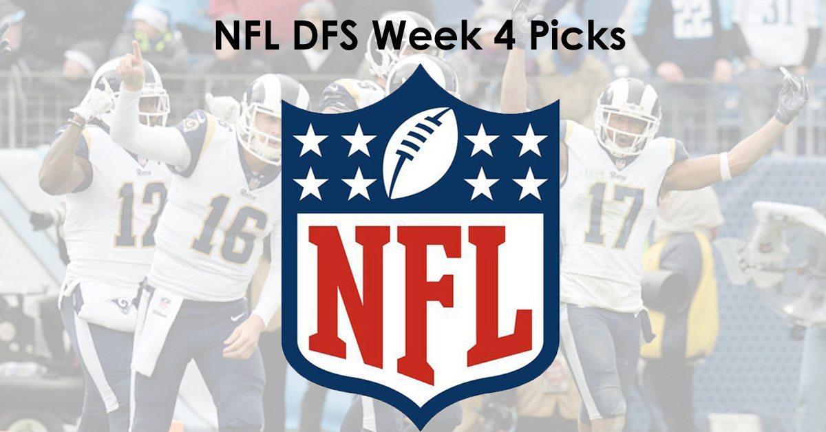 NFL DFS Week 4 Picks - NFL DraftKings Lineup Optimizer