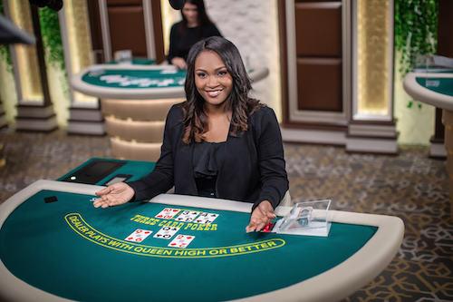 live dealer three card poker online