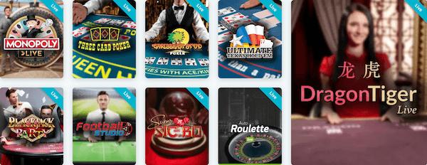 Lucky Days Casino Live Dealer Games