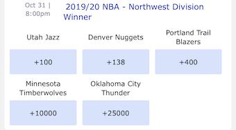 Northwest Odds