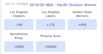 Pacific Odds