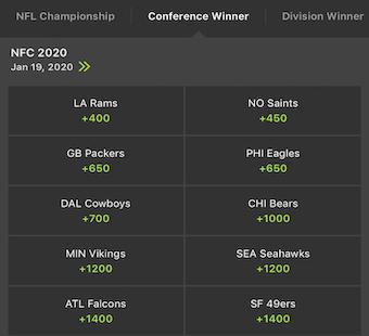 NFC Odds