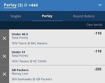 Parlay For NFL Divisional Round