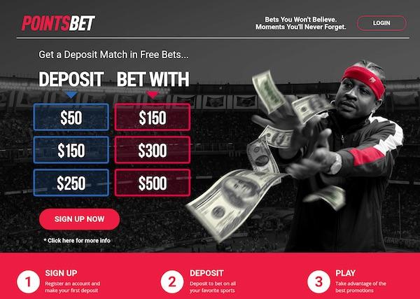 Pointsbet Match Deposit Free Bets Promo