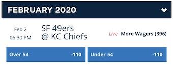 Super Bowl Odds Total
