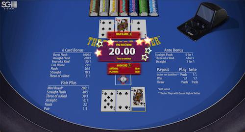 Three Card Poker high card