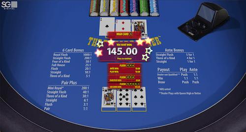 3 Card Poker Flush