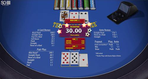 3 Card poker pair plus