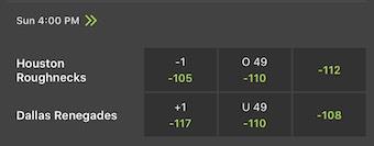 Week 4 Odds XFL
