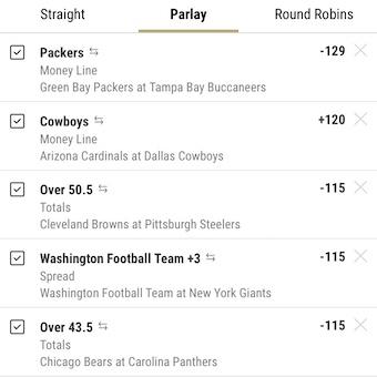 Week 6 Parlays