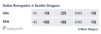 Week 3 XFL Odds