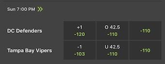 Week 4 XFL Odds