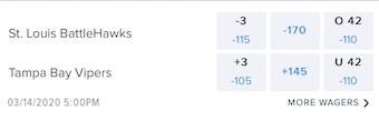 Week 6 XFL Odds