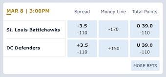 Week 5 XFL Odds