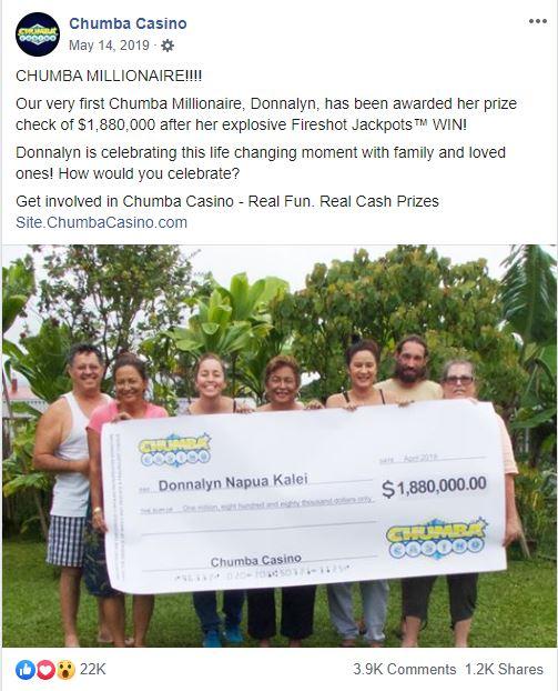 biggest chumba casino winners
